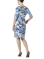 Astrid Blue Flower Dress