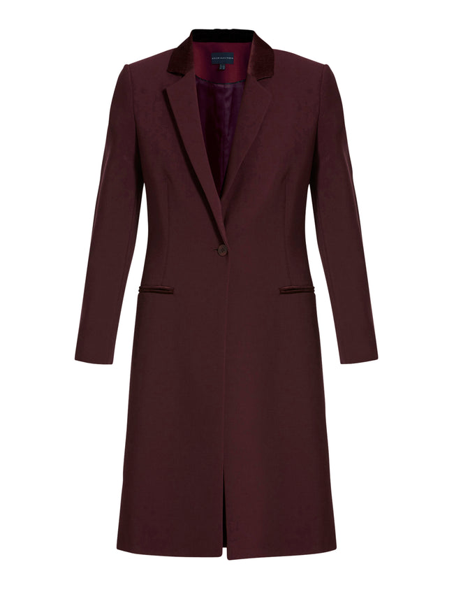 Lorraine Long Burgundy Coat