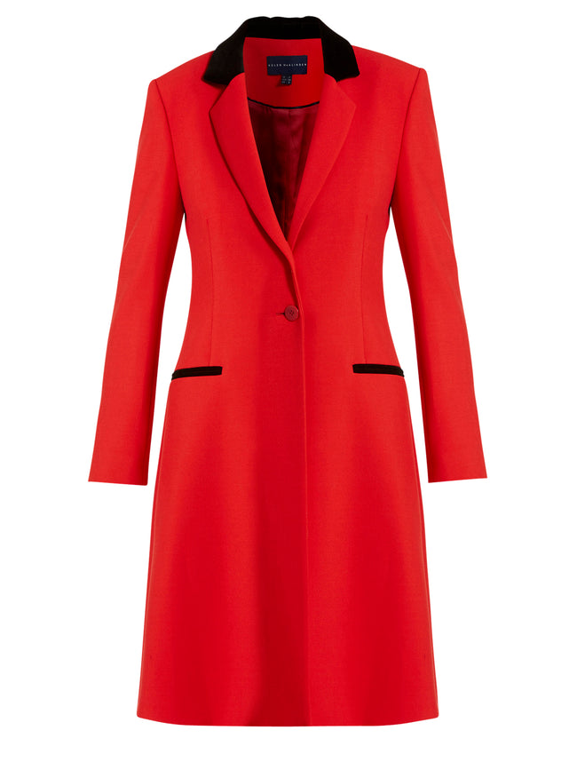 Lorraine Long Red Coat