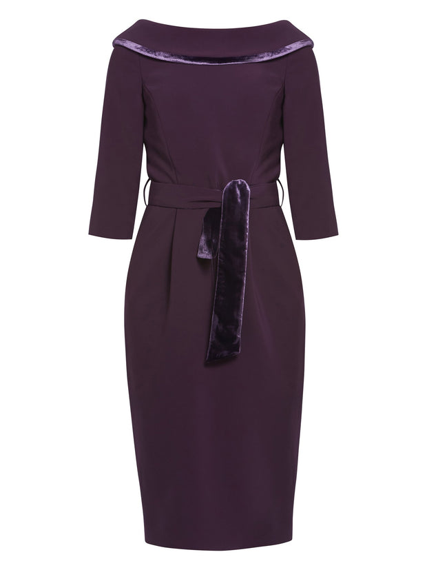 Mirren Mulberry Dress