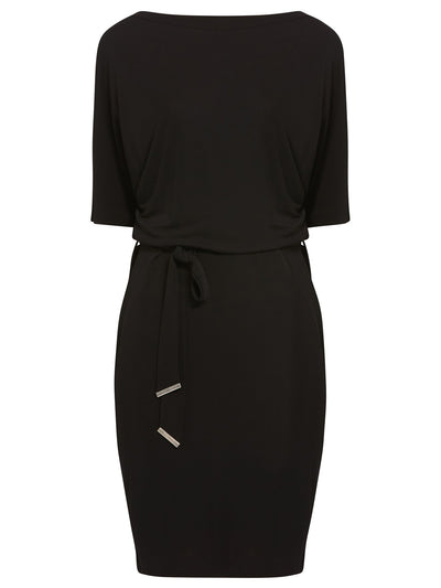 Round Neck Black Dress