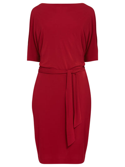 Round Neck Red Dress