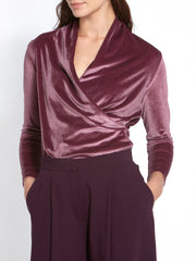 Roxanne Wrap Grape Top