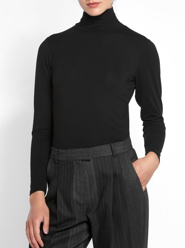 Cora Polo Neck Black