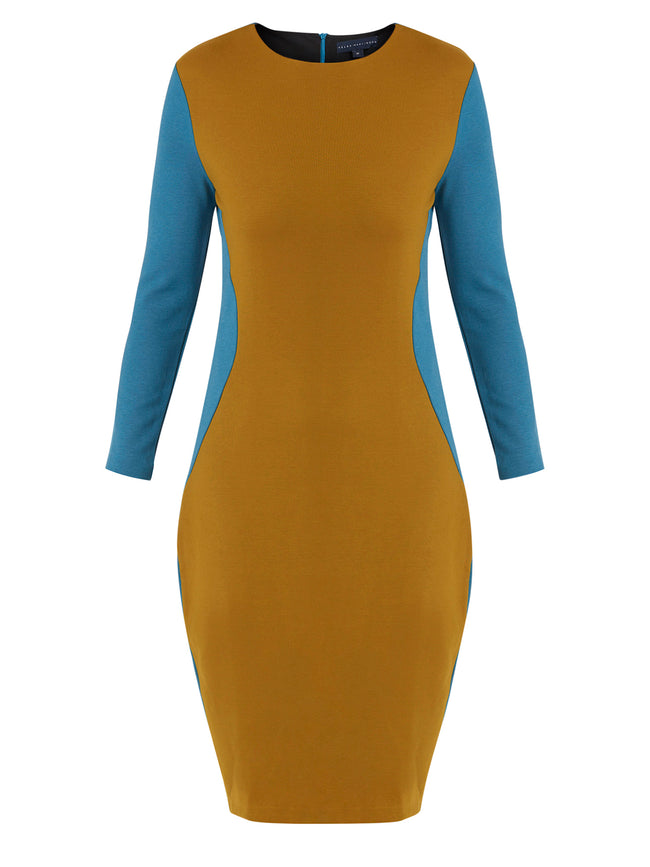 Trudy Teal / Mustard Dress