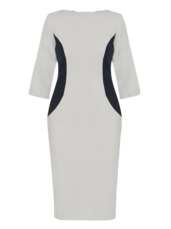 Vivienne Navy & Silver Dress