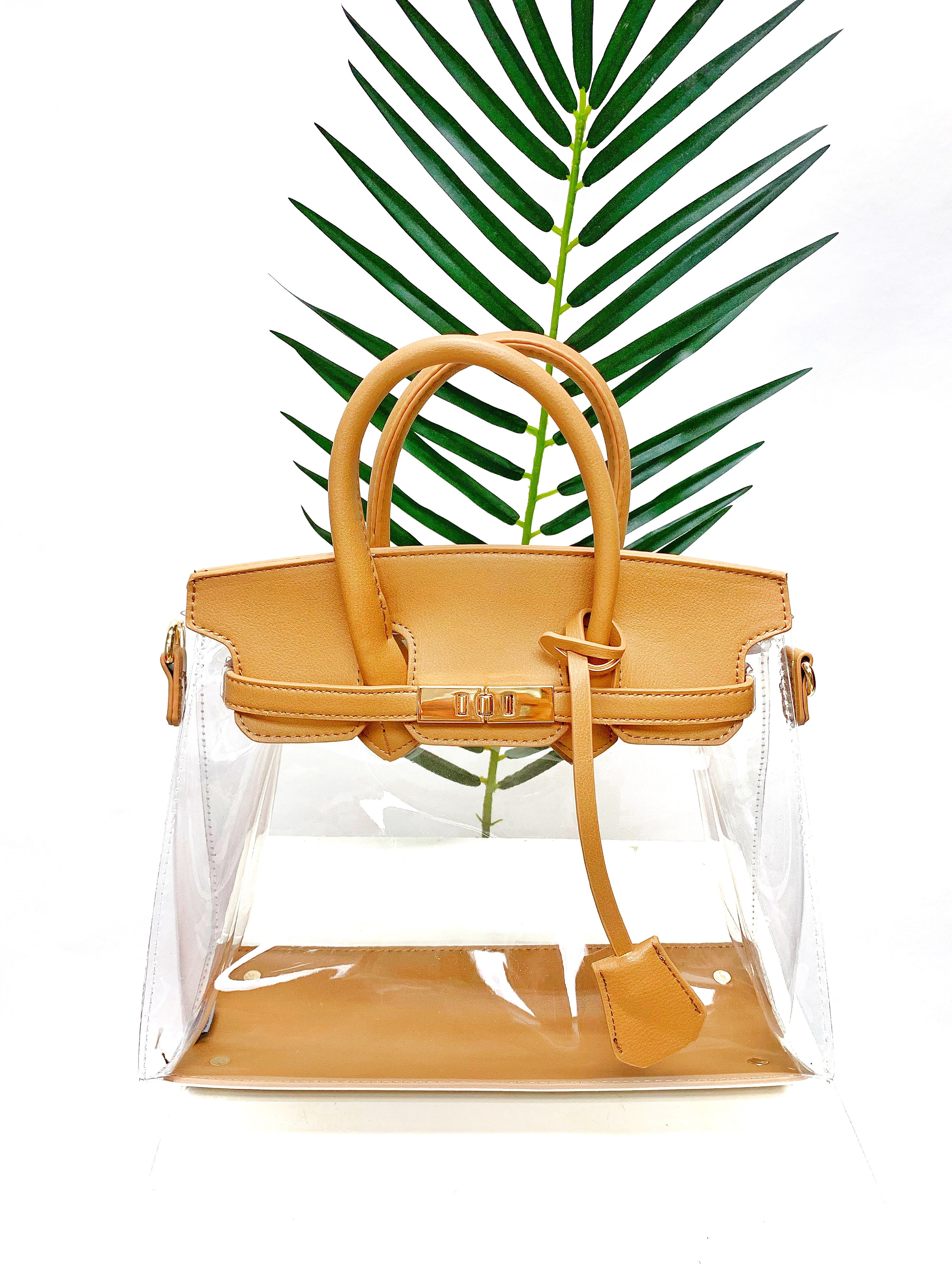 THE BURK CLEAR BAG (Tan)