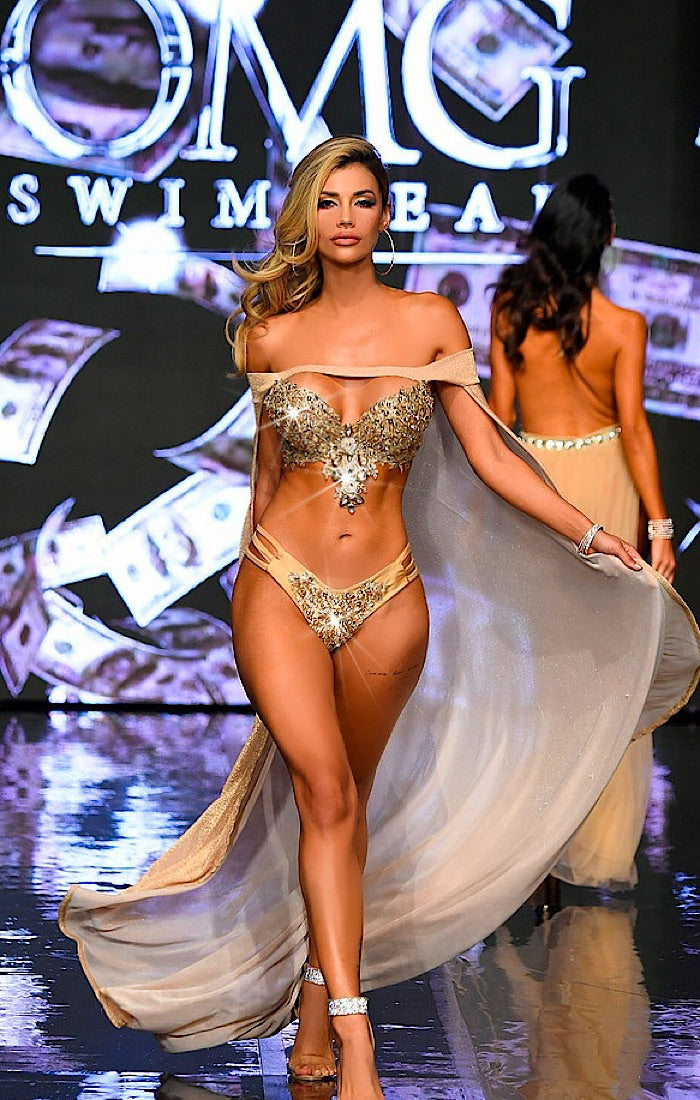 Million Dollar Bra Rhinestone Bikini