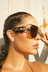 Illuminati Leather Shades (brown/ tan)