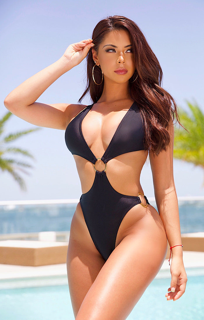 The Tarzan Monokini (black)