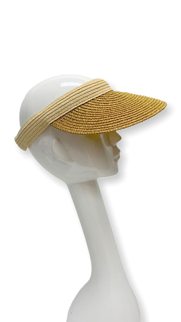 Sun Blocker Hat (Gold & Beige )