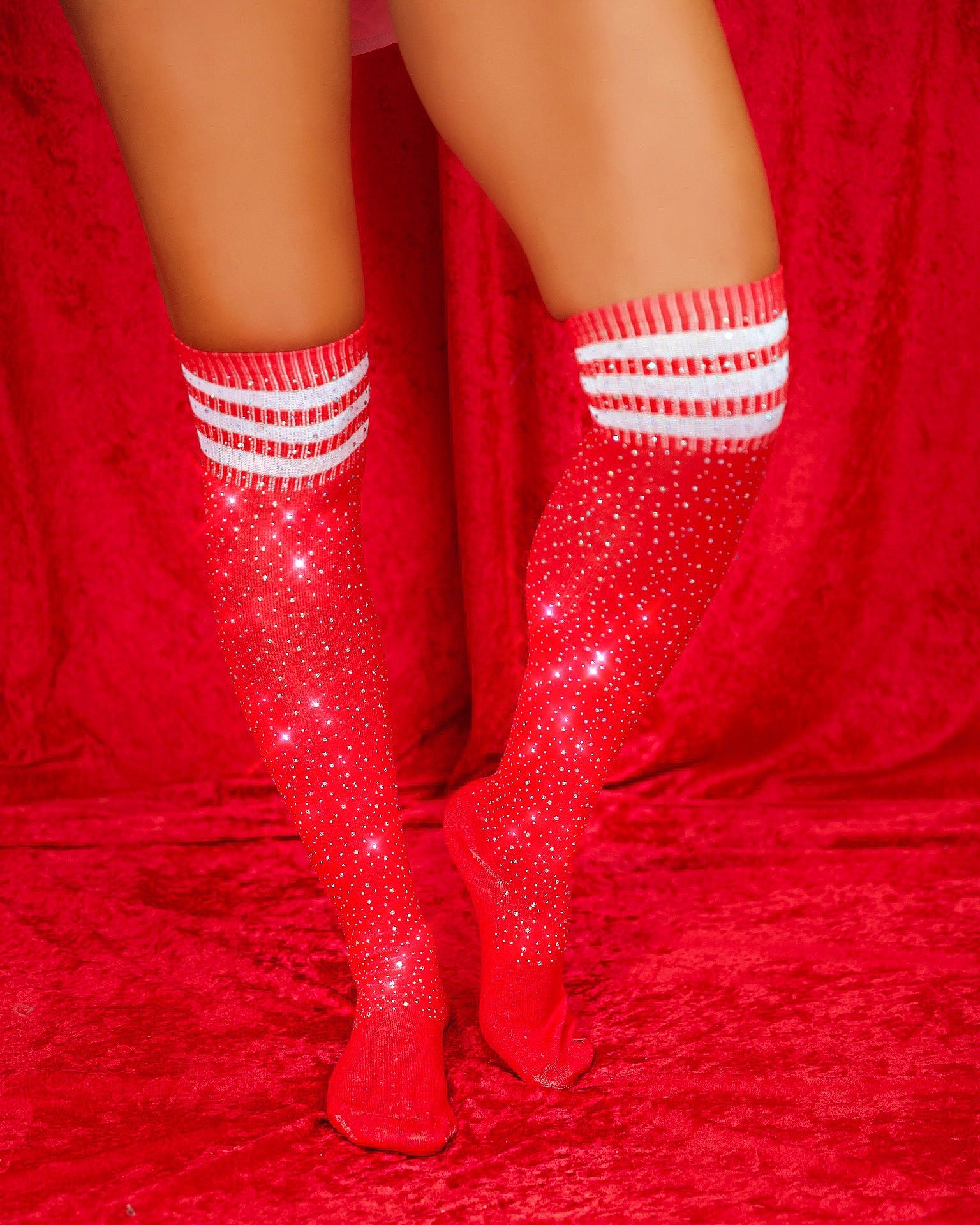 Monday Nights Diamond Socks (RED)