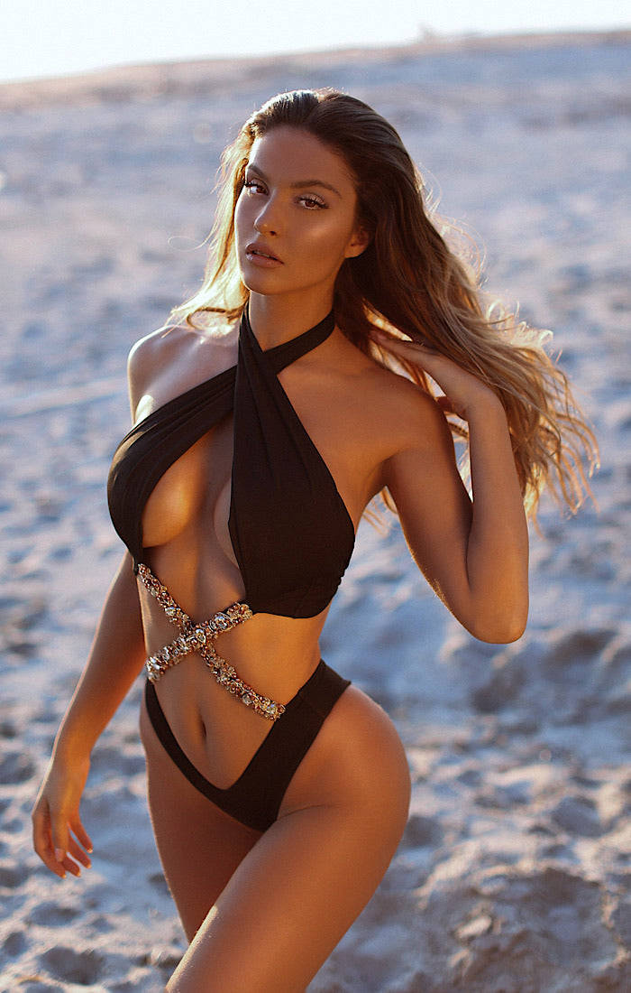 Your Majesty Black Monokini