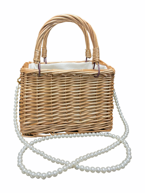 Mother of pearls Wooden Beach Bag (TAN)