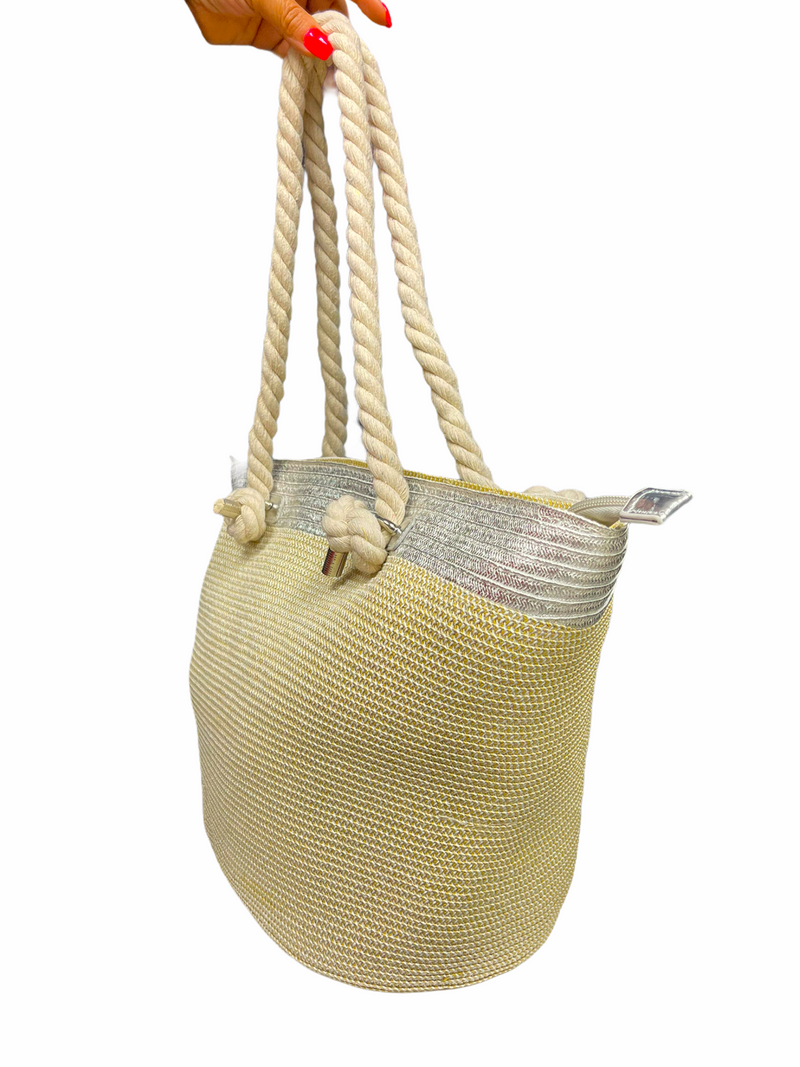 Pool Day Beach Bag (Silver)