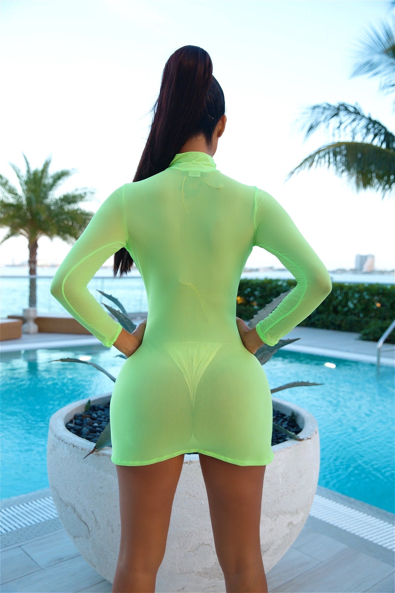 Meshy Mesh Cover Up (Green)