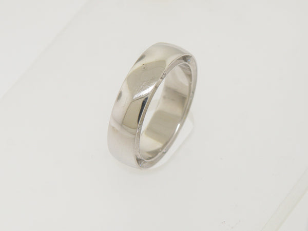 14k White Gold Diamond Mens Wedding Band with Channel Set Diamonds Size 10