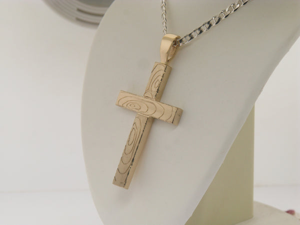 Custom Cross Made To Look Like Wood