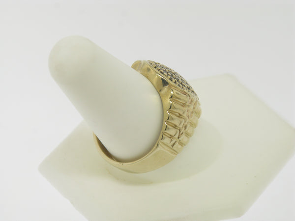 10K Yellow Gold Gentlemen's Diamond Cluster Ring
