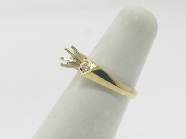 14K Yellow Gold Diamond Semi Mounting (Brand New Sale Jewelry)