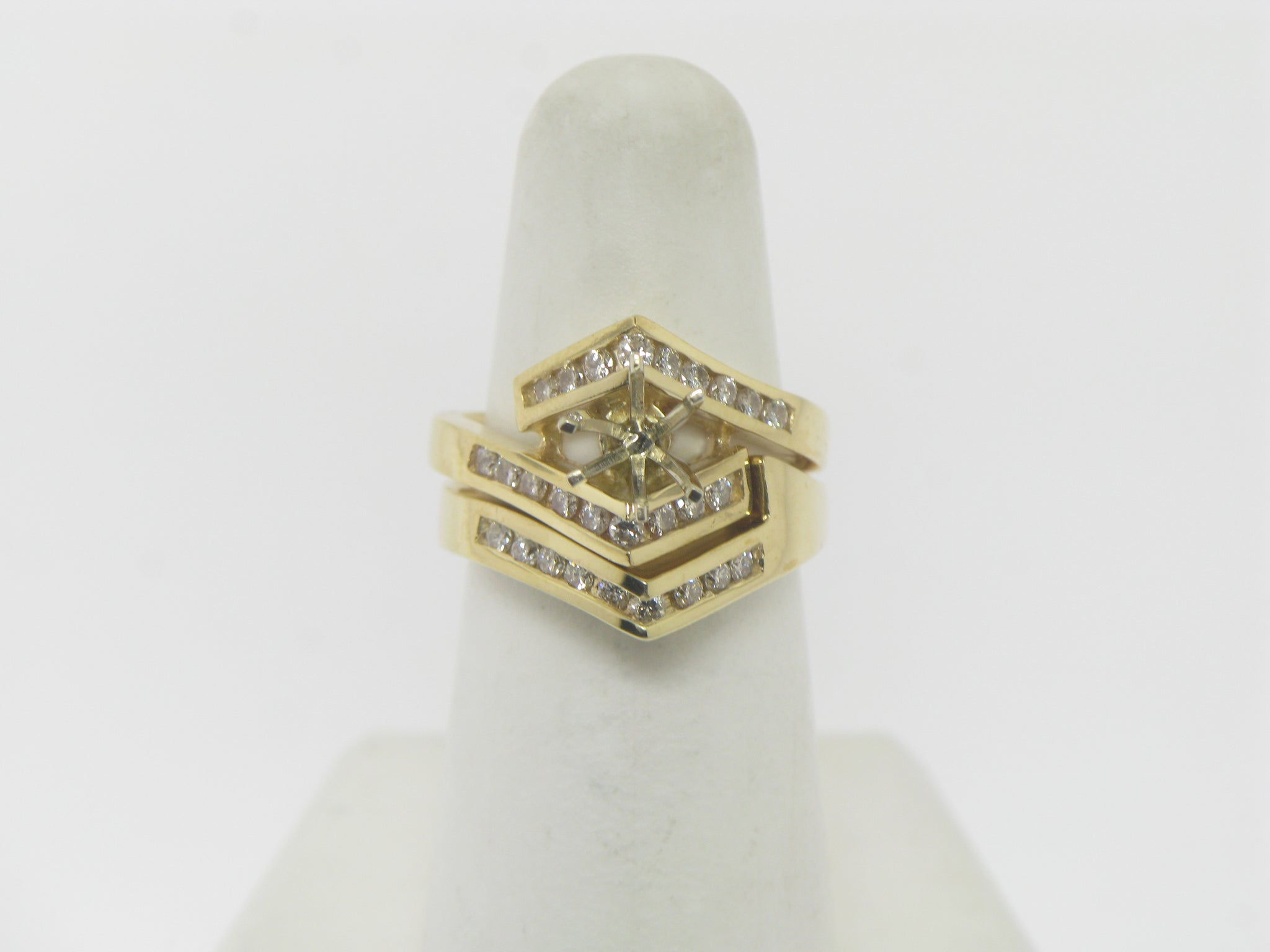 14K Yellow Gold Diamond Ring Semi Mounting [For 3/4 CT] (Brand New Sale)