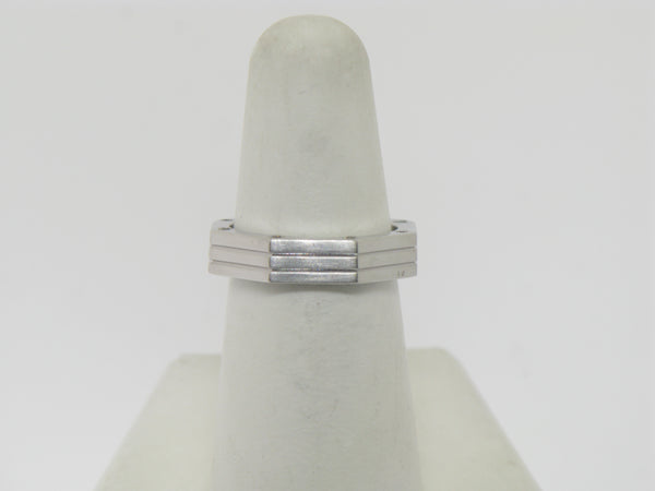 14k White Gold Hexagon Ring 16 Diamonds .27 CT TW Size 6.25
