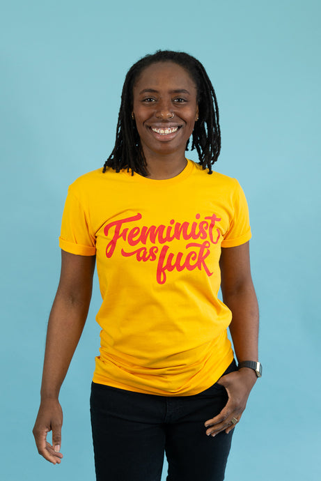 Feminist as Fuck Tee - Gold
