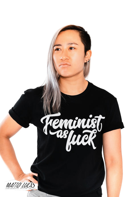 Feminist as Fuck Tee - Black