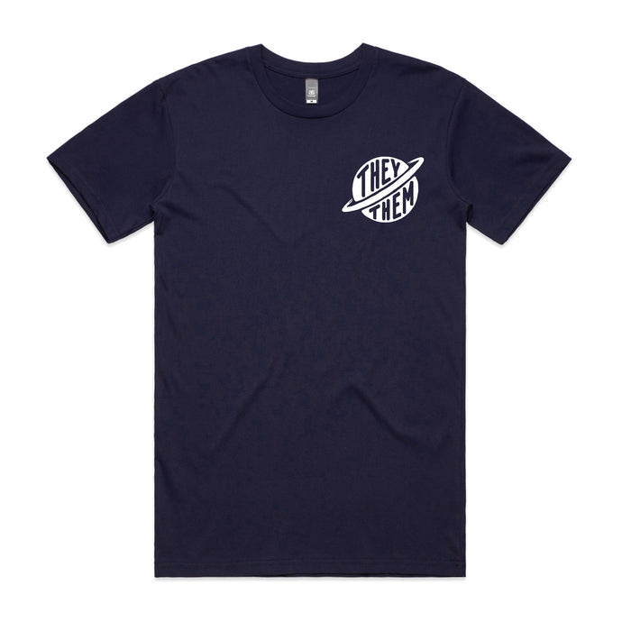 They Them Pronouns Tee - Navy