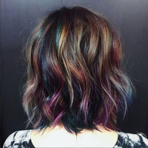 Oil Slick Hair is the New Rage
