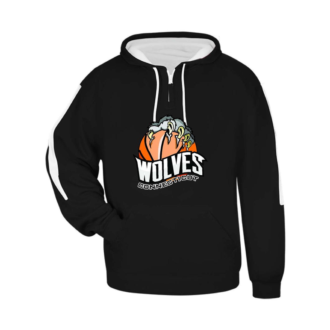 CT Wolves Hoodie  with Basketball Claw logo- Badger 145600