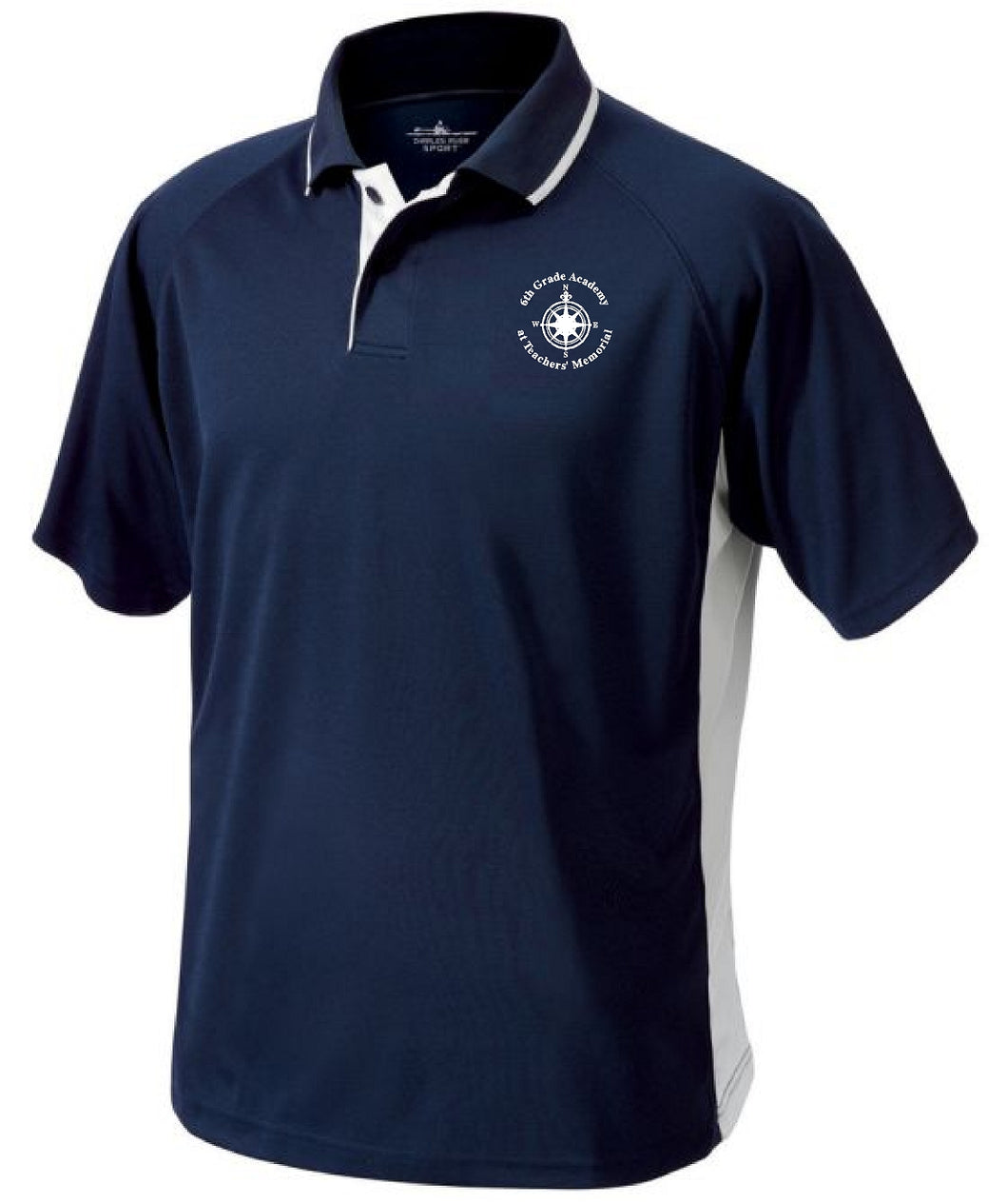 6th Grade Academy 3810 | Men's Color Blocked Wicking Polo