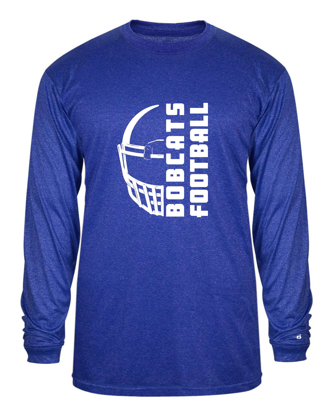 ALL NEW Bacon Academy  Football  Badger 4304 - Pro Heather L/S Tee