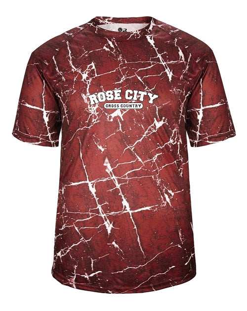 Rose City Cross Country Shock Tee Shirt Badger Adult 4183 /  Youth 2183