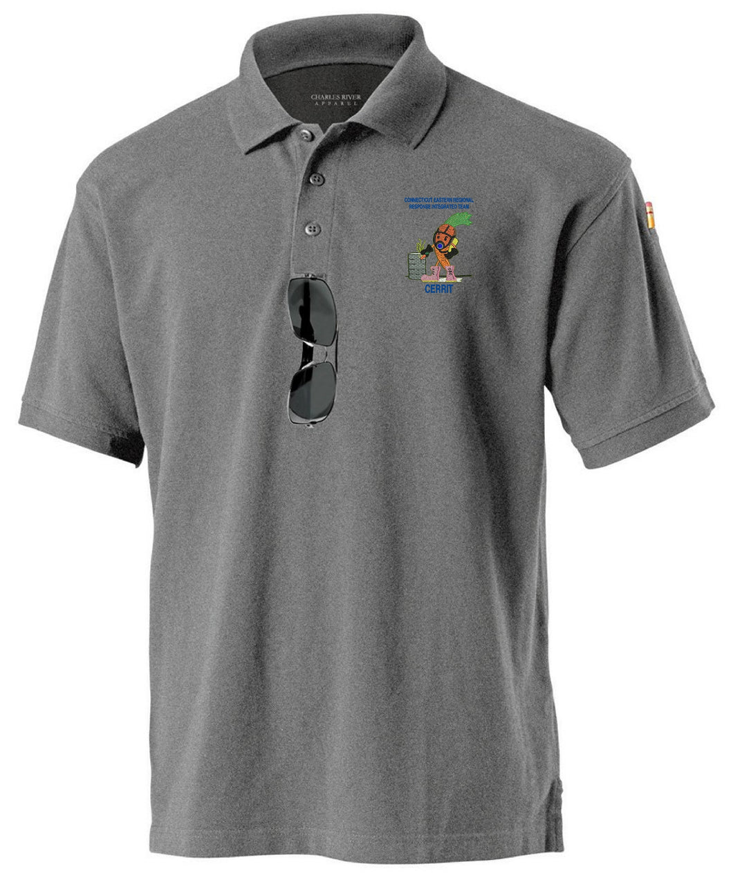 Men's Allegiance Polo with Embroidered logo Left chest CR 3045