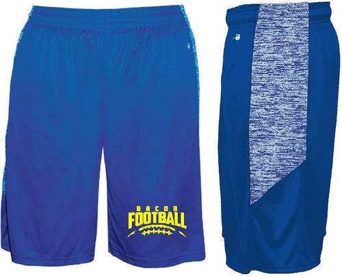Bacon Academy Football Logo Shorts badger 4195