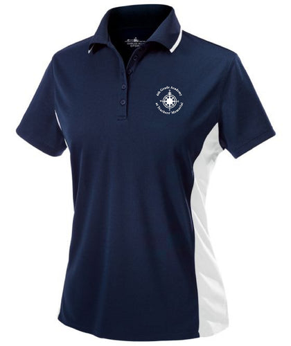 6th Grade Academy CR2810 | Women's Color Blocked Wicking Polo
