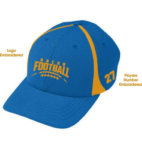 Player Hat with Embroidered Logo on front and Player Number on side AB6310
