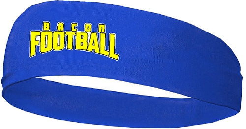 Bacon Academy Football Royal Blend Wide Headband 0301