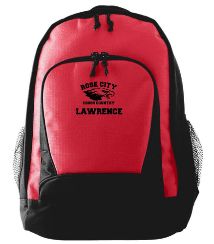 ROSE CITY EAGLES CROSS COUNTRY AUGUSTA STYLE 1710 RIPSTOP BACKPACK WITH LOGO AND LAST NAME