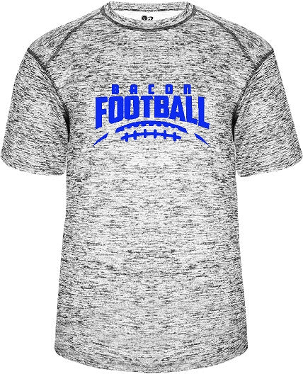Bacon Academy Football Blended Tee Shirt badger 4191 with Logo on front