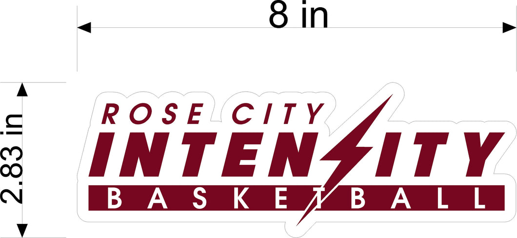 Rose City Intensity Vehicle Sticker