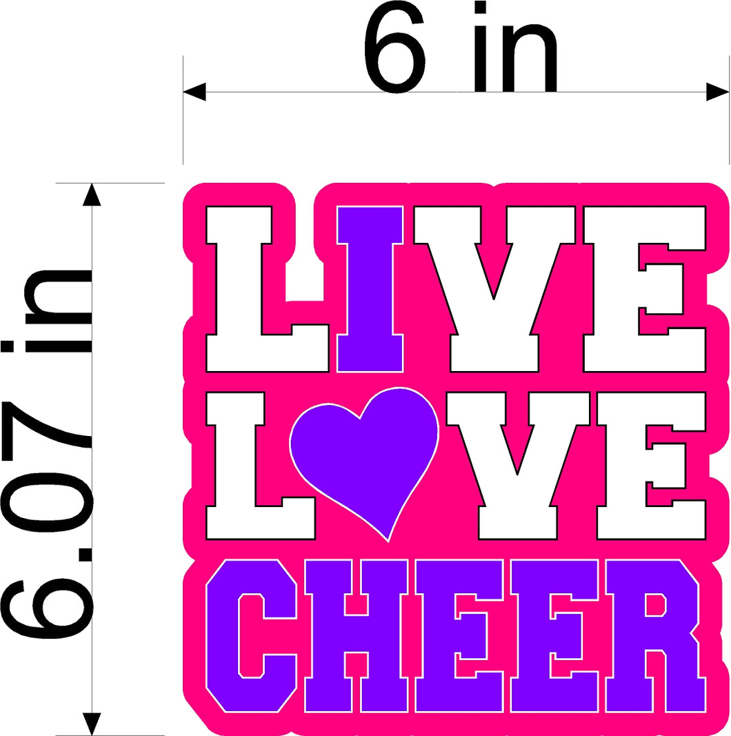 CHEER CAR STICKER