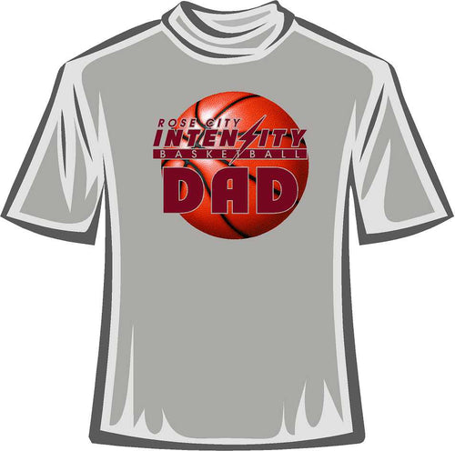 DAD Tee Shirt Rose City Intensity Basket Ball