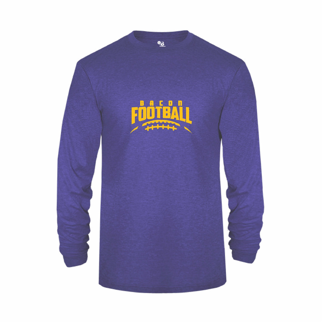 Long Sleeve Tri Blend Royal Heather B494400