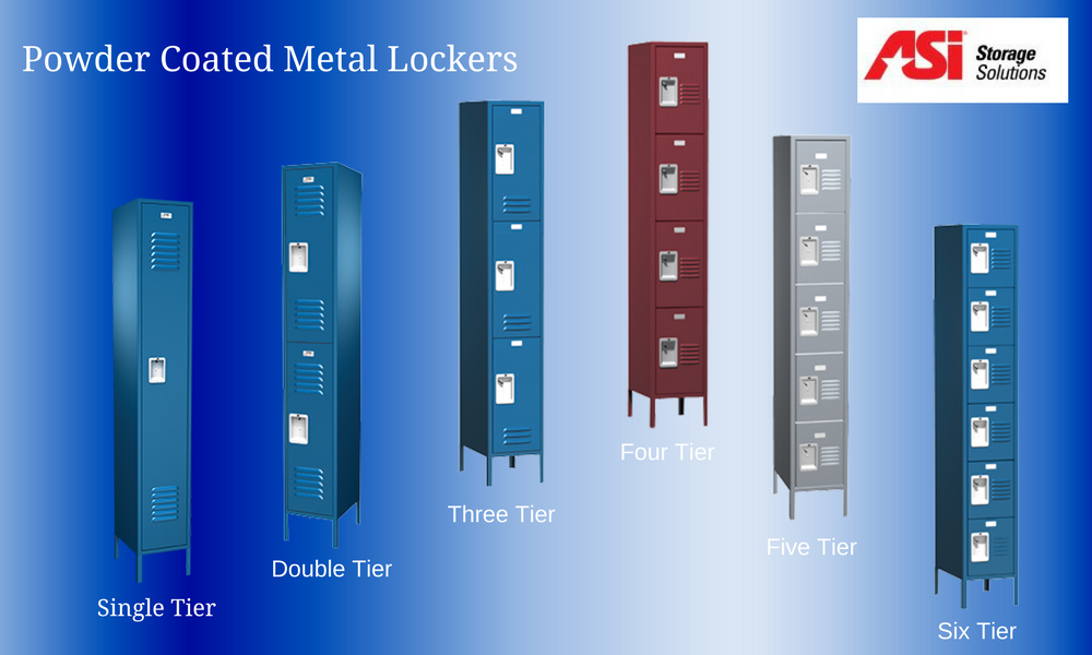 ASI Powder Coated Metal Lockers