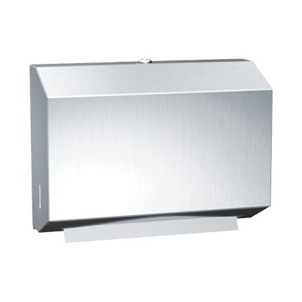 PA 0215 Surface Mounted Towel Dispenser for Compact Areas - Stainless Steel