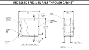 PA8155 Spacer Sleeve for Speciman Pass Thru