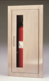 PASS2409-6R-VDuo  -  Fire Extinguisher Cabinets Stainless Steel  Duo Vertical Door