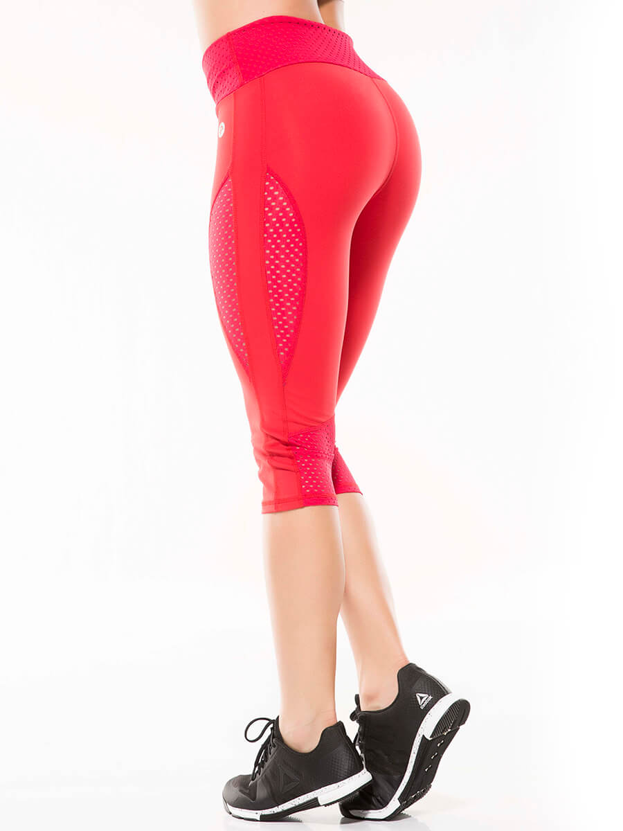 Lutxi red capri pants